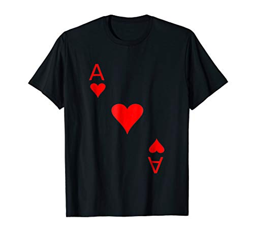 Deck Of Cards Ace Of HEART Halloween Costume Funny T Shirts -
