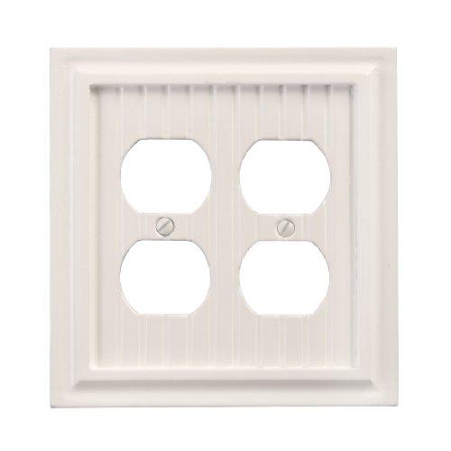 - AmerTac 179DDW Cottage Composite Wood Double Duplex Wallplate, White