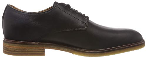 Derby Clarks Moon Leather Nero Scarpe Stringate Black Clarkdale Uomo qwgxwprIR