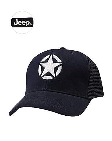 37b51639 Jeep Hat Men Navy Blue Mesh Back Oscar Mike Star at Amazon Men's Clothing  store: