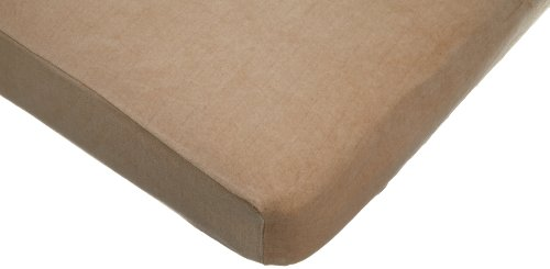 American Baby Company Fitted Velour Crib Sheet made with Organic cotton, Mocha