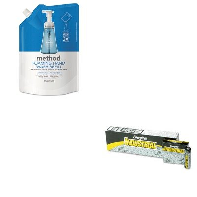(KITEVEEN91MTH00667 - Value Kit - Method Foaming Hand Wash Refill (MTH00667) and Energizer Industrial Alkaline Batteries (EVEEN91))