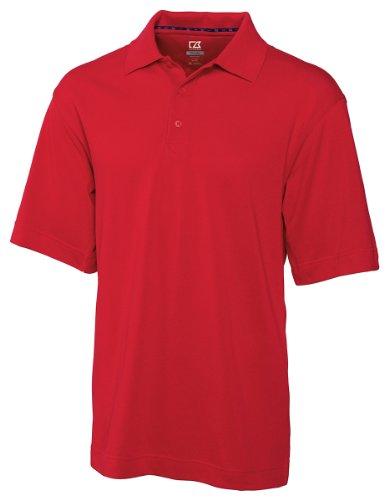 - Cutter & Buck Men's CB Drytec Championship Polo Shirt, Red, X-Large