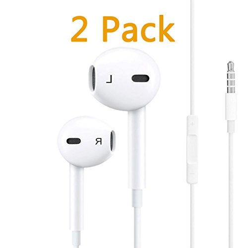 (CameronDiaz Compatible Earphones Headphones Earbuds with Microphone Stereo Replacement for Apple iPhone 6 Plus/6s/6s Plus/5s/5/4s/4/iPad/iPod and More (White5))