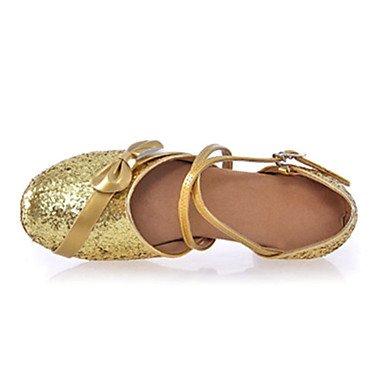 de Personalizables Cuadrado Rojo Silver baile No Oro Zapatos Plata Latino Tacón adPwPqB