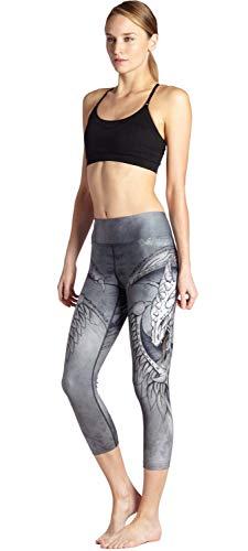 Patterned Stretch Leggings Elastico Fit In Vita Pants Matita Donna 7yoga Attillati Slim Fashion Capri Pantaloni Unico Da Printed 0040 A I4qrIaRx