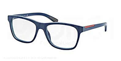Amazon.com: Prada Sport ps01fv anteojos-tio/1o1 Top Azul ...