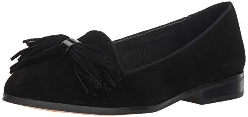 Anne Klein Women's Dixie Loafer Flat, Black, 9 M US