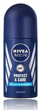 Aluminum Alcohol - Nivea Men Protect & Care Aluminum Free 48h Deodorant Roll-On 50 ml / 1.7 fl oz