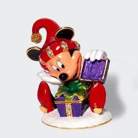 DISNEY MICKEY MOUSE CHRISTMAS SURPRISE Jeweled Hinged Box