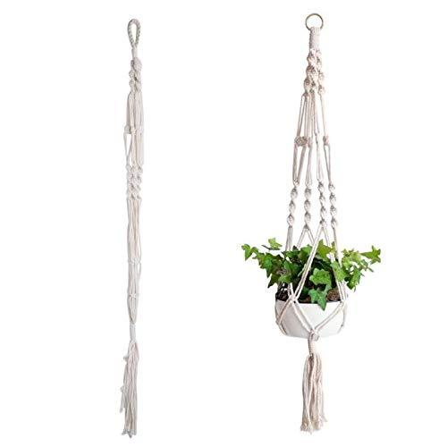 Pot Garden Holder Modern Plant Hanger Flower Legs Hanging Macrame Rope Basket AU