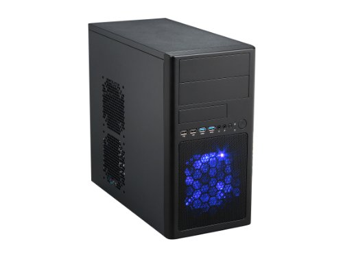 Rosewill Micro-ATX Mini Tower Computer Case with Dual USB 3.0, Dual Fans and 12.5-Inch Card LINE-M Black