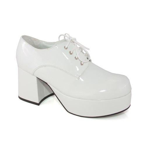 Pimp-312 - Large,white (Mens Disco Shoes)