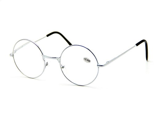 Silver Vintage Small Round Reading Glasses Readers Fashion Lovely Nice Wearing Is A Necessity. Inspired By Today's Top - Tortoise Shell Glasses Versace