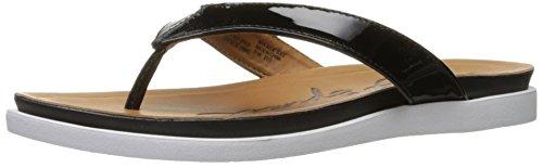 Black Patent Flip Flops (Easy Spirit Women's Faviola Flip Flop, Black Pa, 5 M US)