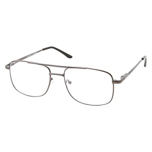 Mens Progressive Reading Glasses Multifocus 3 Power Tri-Focal (Gunmetal Gray, 2.50)