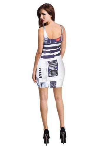 Misomi Women's Digital Print Tank Dress Bodycon Clubwear One Size Star Wars Artoo