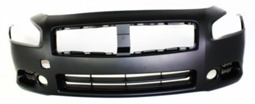 CPP Primed Front Bumper Cover Replacement for 2009-2014 Nissan Maxima (Replacement Cover Front Bumper)