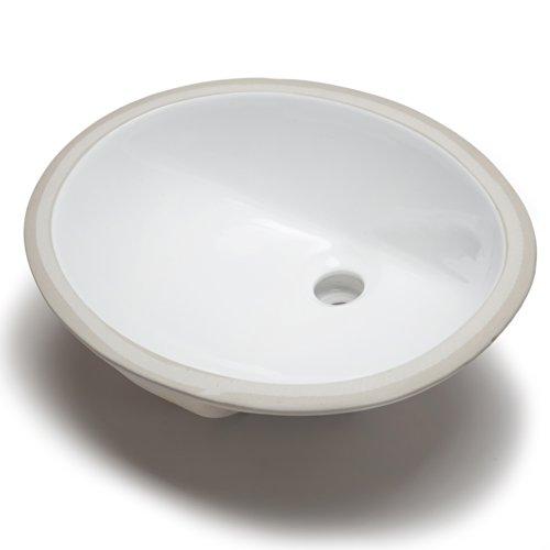 Hahn Ceramic Vc012 Small Oval Ceramic Bathroom Sink White Renovation Store