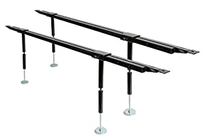 universal bed slats center support system adjustable tubular steel with 4 legs