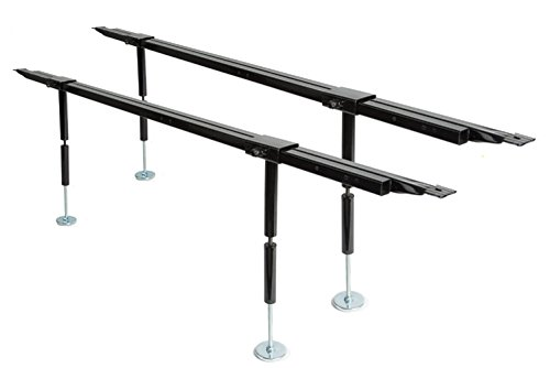 Platform King Queen (Best Imported Products Universal Bed Slats Center Support System Adjustable Tubular Steel with 4 Legs)