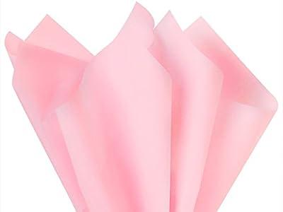 """Light Pink Tissue Paper 15"""" X 20"""" - 100 Sheet Pack"""