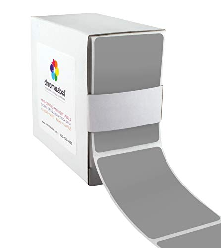 (ChromaLabel 2 x 3 inch Color-Code Labels | 250/Dispenser Box (Gray) )