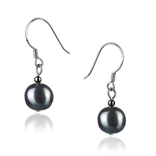 Teresa 8-9mm A Quality Freshwater 925 Sterling Silver Cultured Pearl Earring Pair For Women