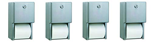Bobrick B-2888 Classic Series Surface-Mounted Multi-Roll Toilet Tissue Dispenser, Satin ()