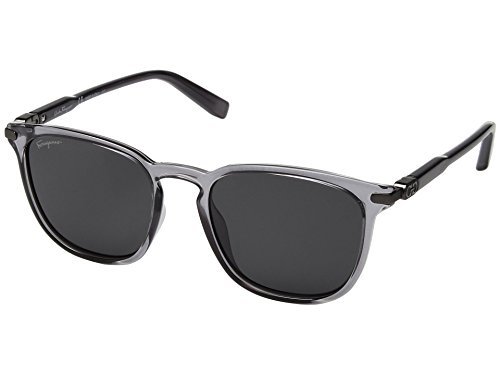 Salvatore Ferragamo  Men's SF881SM Smoke/Solid Grey One - Sunglasses Ferragamo Salvatore
