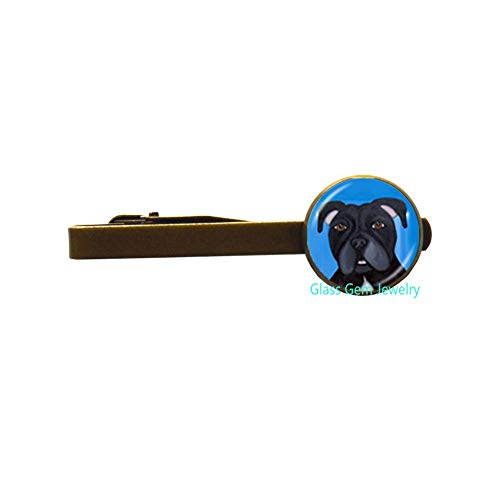 Pit Bull Dog Tie Clip American Pitbull Terrier Pet Puppy Rescue Tie Pin Bulldog Jewelry for Animal Lover Accessories,Q0222 (Y2) ()