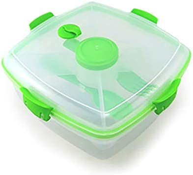 Lqpfx-fh Plástico caja de almuerzo del envase de alimento de almacenamiento portátil de cocina Organización de Estudiantes Niños Lunchbox de verduras ensalada de frutas Arroz (Color : Green): Amazon.es: Hogar