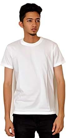 Droit Chemin Dc126 Crew Neckline Boy'S T-Shirt - L, White