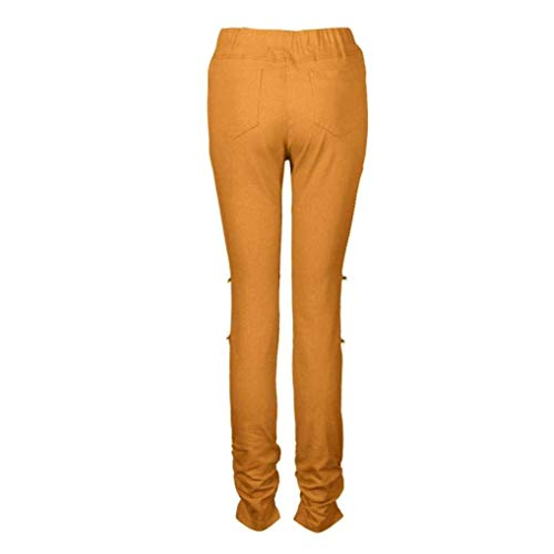 Sankidv Chic Pantalon Jeans Pantalons Fit Ripped Crayon Jeune Skinny Stretch Denim Kaki Pants Slim uTJ3Flc51K