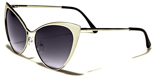 695dd224e0a Mirozi Vintage inspired Cat-Eye 59mm oversized womans Sunglasses with gold  frames