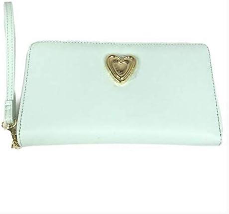 Betsey Johnson Zip Around Wristlet Light Blue Wallet