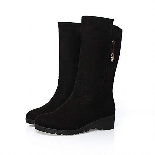 Women Alto Tallone Donne' Testa Boots S 's Nero Di tacco 43 Rettifica Impermeabile 35 slim Massima Rotonda Alti Stivali Zj Il zXqBPdzw