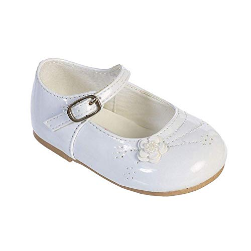 Infant White Leather Footwear - Amanda's Patent Leather Party Shoes 2 M US Infant White