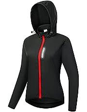 WOSAWE Women's Packable Cycling Jacket Water Resistance Running Hooded Windbreaker