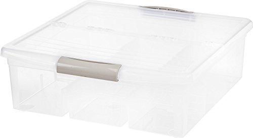 IRIS Clear Modular Media Box - Large (Set of 4) (Stackable Cd / Dvd Storage)