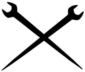 Amazon com: BD USA Ironworker Crossed Tools Decal, Decal