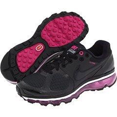 Womens Nike Air Max + 2010 Black Black-Wineberry-White Shoe
