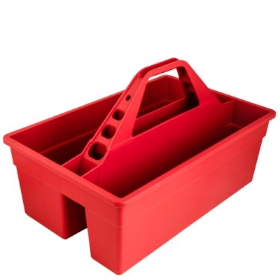 Red 17'' L x 11'' W x 11'' H Tote Max Rubber Caddy Container (1 Container)