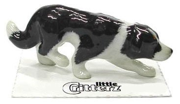 Collie Figurine Dog (BORDER COLLIE Puppy Dog Sneaks