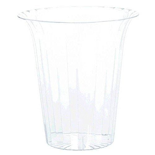 Amscan Large Stylish Flared Clear Plastic Cylinder Table Snack & Treats Serveware Childrens Party Tableware , 12 Pieces