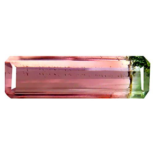 1.05 ct OCTAGON (12 x 4 mm) BRAZILIAN WATERMELON BI-COLOR TOURMALINE GENUINE LOOSE GEMSTONE Bi Color Tourmaline Gem