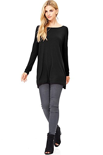 Pink Ice Women's Stretchy Bamboo Fabric Tunic Top (M, (Bamboo Tunic)