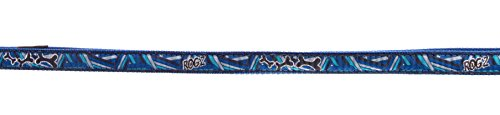 Premium Pattern Dog Collar for Dogs, Adjustable inches, Navy Zen Spring
