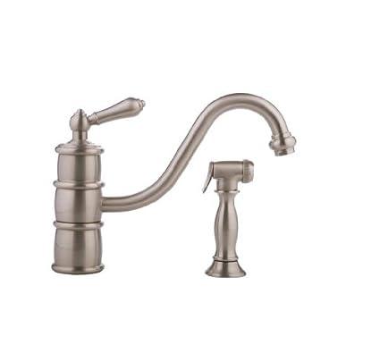 Graff G-4720-LM9-SN Prescott Kitchen Faucet with Side Spray ...
