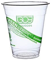 Eco-Products GreenStripe Renewable & Compostable Cold Cups, 12 oz, Case of 1000 (EP-CC12